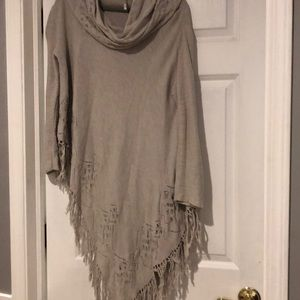 Free People Sweater Poncho (has sleeves)